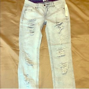 Love, Fire Junior Distressed Jeans